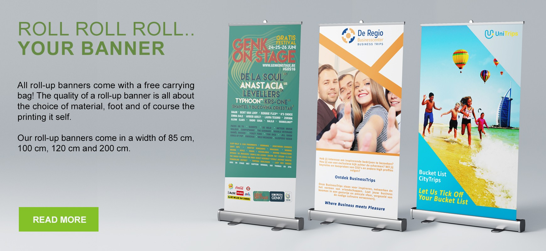 Order your roll-up banner now
